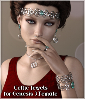 Celtic Jewels for Genesis 3 Female 3D Figure Essentials Lully