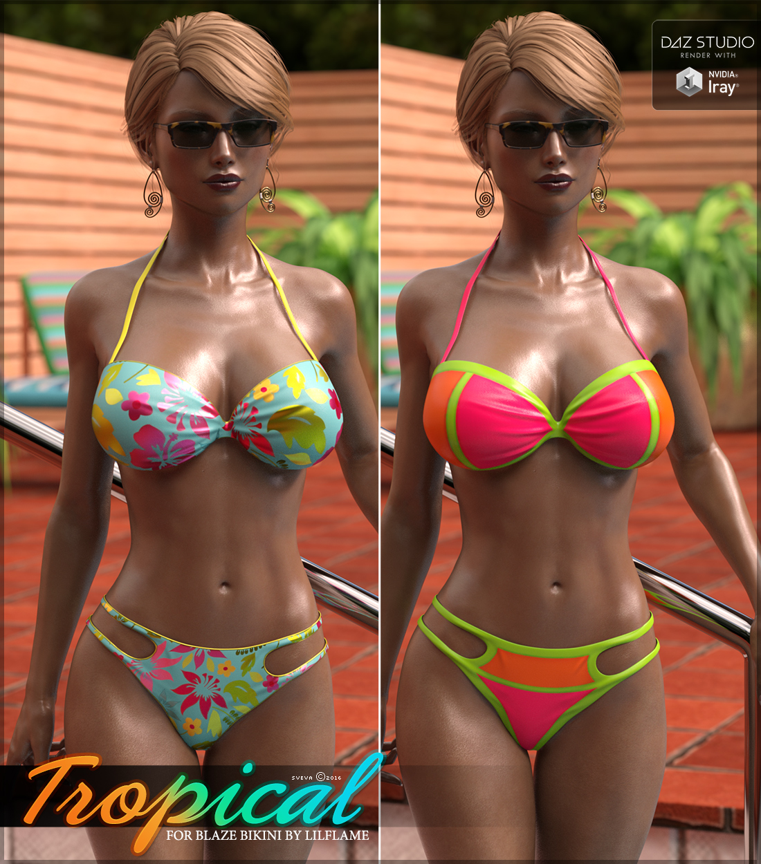 Tropical for Blaze Bikini