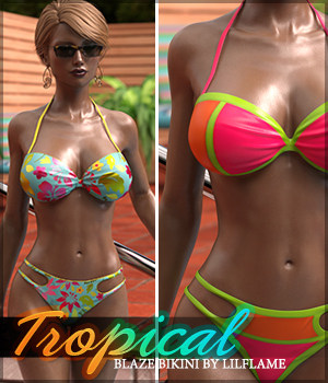 Tropical for Blaze Bikini 3D Figure Essentials Sveva