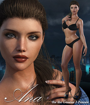 Ana for Genesis 3 Female - Extended License 3D Figure Assets Extended Licenses RPublishing