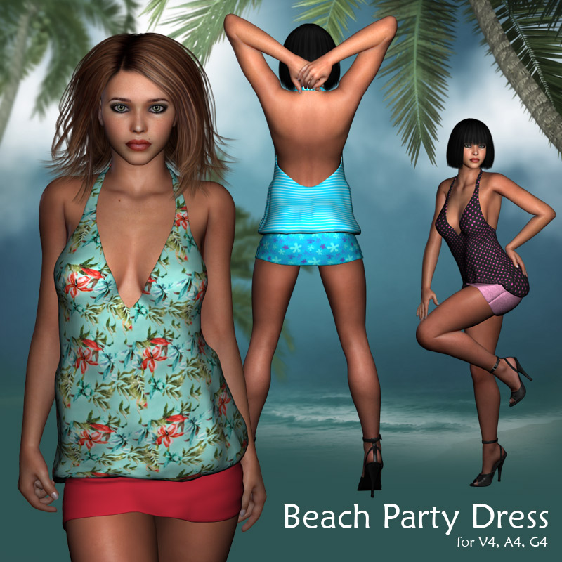 Beach Party Dress - Extended License