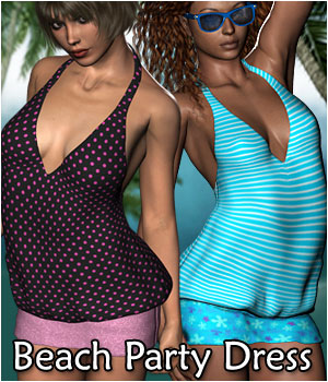 Beach Party Dress - Extended License 3D Figure Assets Extended Licenses RPublishing