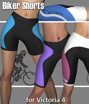 Biker Shorts for V4 - Extended License 3D Figure Assets Extended Licenses RPublishing