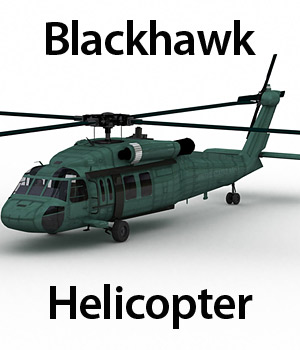 Blackhawk Helicopter (Poser & Vue) - Extended License 3D Models Gaming Extended Licenses RPublishing