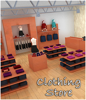 Clothing Store Interior - Extended License 3D Models RPublishing