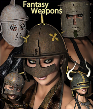 FANTASY HELMETS - Extended License 3D Models 3D Figure Essentials Extended Licenses RPublishing