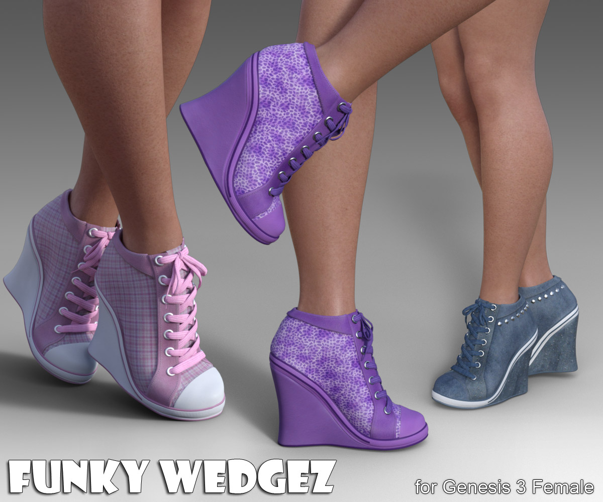 Funky Wedgez for Genesis 3 Female - Extended License