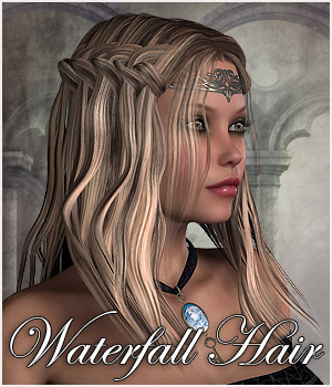 Waterfall Braid Hair V4 & Dawn - Extended License 3D Figure Assets Extended Licenses RPublishing