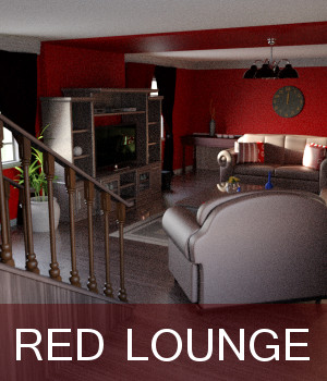 Red Lounge 3D Models TruForm
