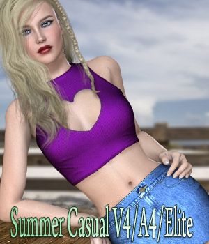 Summer Casual V4/A4/Elite 3D Figure Assets kaleya