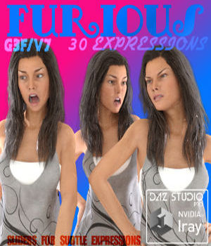 VICTORIA 7 FURIOUS EXPRESSIONS 3D Figure Assets farconville
