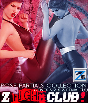 Z Fight Club - Pose Partials Collection - G2F-V6/G3F-V7 3D Figure Assets Zeddicuss
