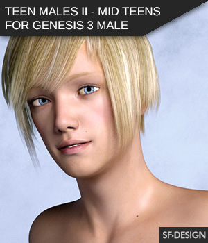 Teen Males II - Mid-Teens - Shapes for Genesis 3 Male 3D Figure Assets SF-Design