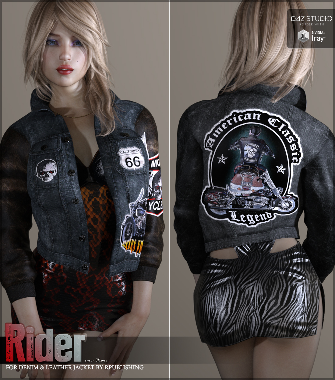 Rider for Denim and Leather Jacket by Sveva