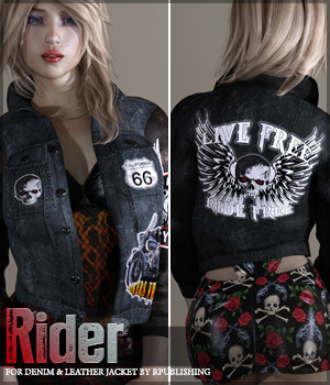 Rider for Denim and Leather Jacket 3D Figure Essentials Sveva
