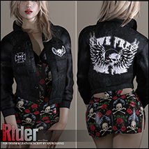Rider for Denim and Leather Jacket image 1