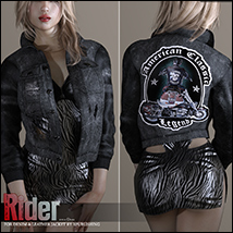 Rider for Denim and Leather Jacket image 2