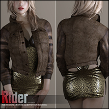 Rider for Denim and Leather Jacket image 3