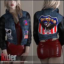 Rider for Denim and Leather Jacket image 5