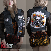 Rider for Denim and Leather Jacket image 6