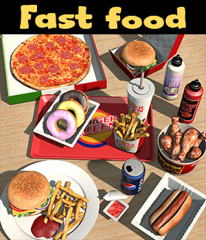 Everyday items, Fast food 3D Models 2nd_World