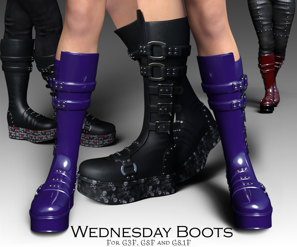 Wednesday Boots for G3F