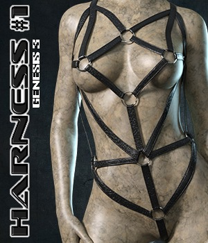 Exnem Harness 1 for G3 Female 3D Figure Assets exnem