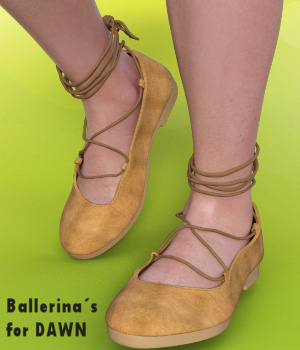 Comfy Ballerina Flats for Dawn - DS 3D Figure Assets Karth