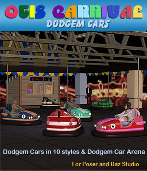 Otis Carnival Fun Fair Dodgem Cars 3D Models Simon-3D