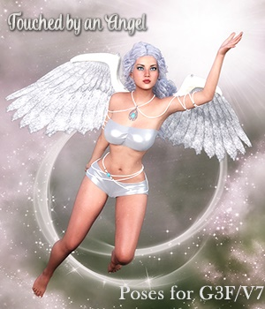 Touched by an Angel Poses for G3F /V7 3D Figure Assets vanda51