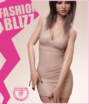 Fashion Blizz: Poudre Dress for Genesis 3 Female(s) 3D Figure Essentials outoftouch