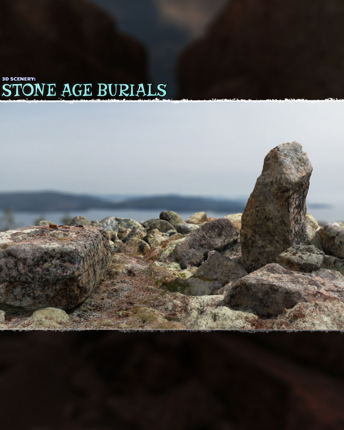 3D Scenery: Stone Age Burials by ShaaraMuse3D