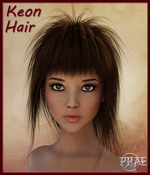 Prae-Keon Hair For Daz 3D Figure Assets prae