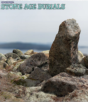 3D Scenery: Stone Age Burials - Extended License 3D Models Gaming Extended Licenses ShaaraMuse3D