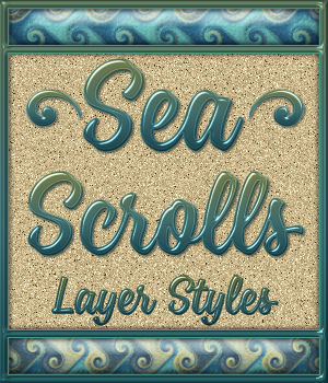 Sea Scrolls Layer Styles 2D Graphics Merchant Resources fractalartist01