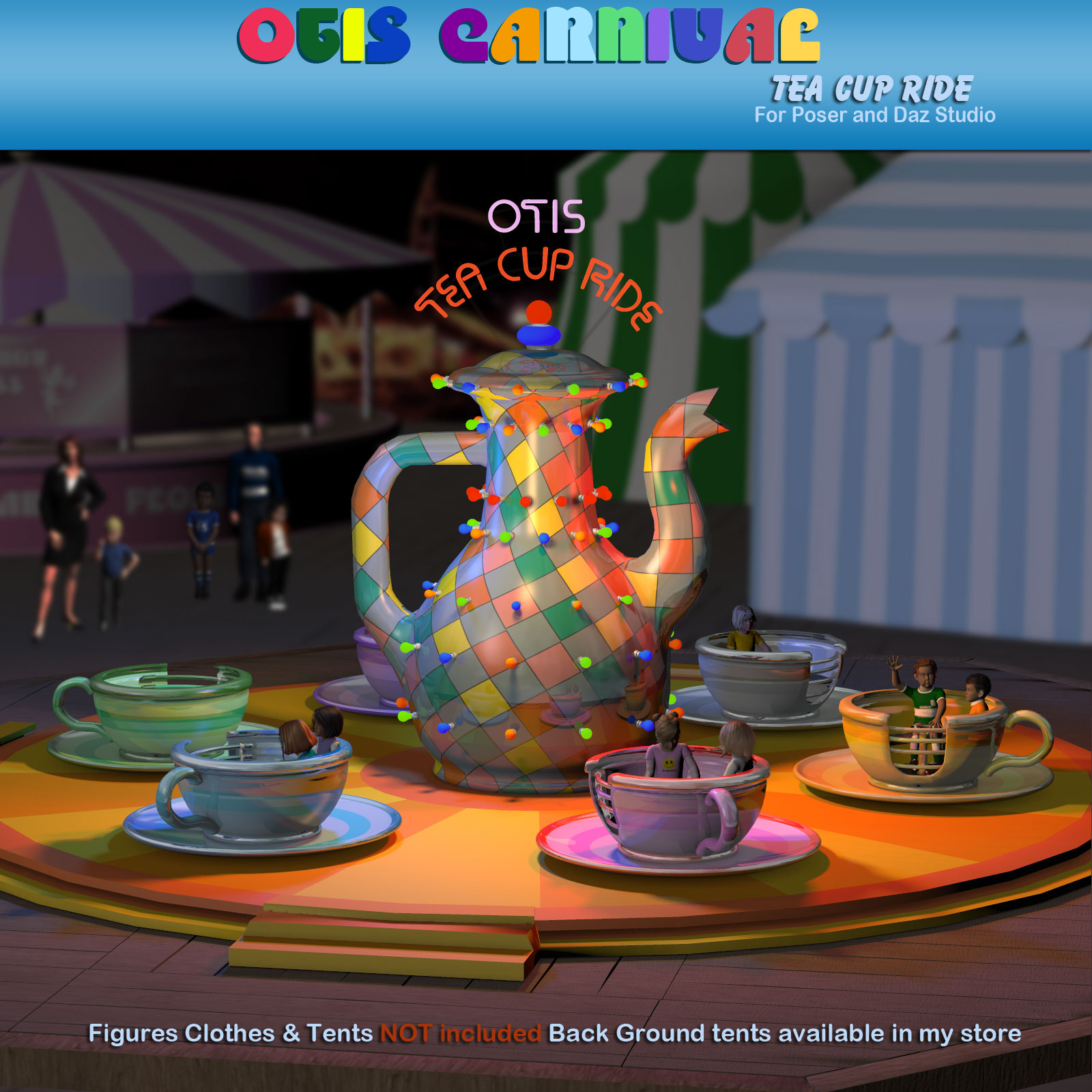 Otis Carnival Fun Fair Tea Cup Ride