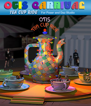 Otis Carnival Fun Fair Tea Cup Ride 3D Models Simon-3D