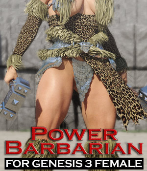Power Barbarian for G3 female(s) 3D Figure Essentials powerage