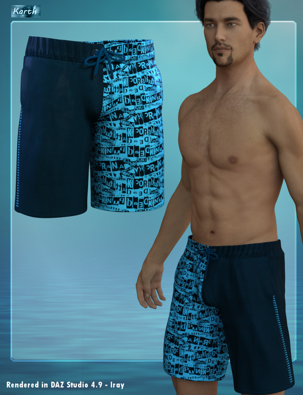 Beachwear for Genesis 3 Males by Karth
