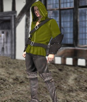Medieval Archer (M4) (for Poser) 3D Figure Assets VanishingPoint