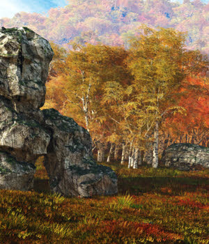 Matte Paintings Autumn and Winter Backgrounds 2D Graphics aeilkema