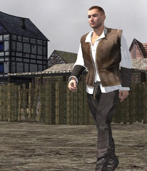 Medieval Townsman (M4) (for Poser) 3D Figure Assets VanishingPoint