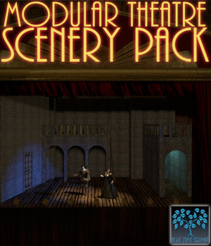 Modular Theatre Scenery Pack 3D Models BlueTreeStudio