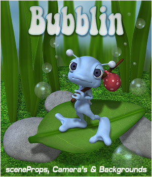 Bubblin - SceneProps 2D 3D Models P3D-Art