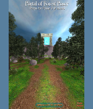 Portal of Forest Poser 3D Models JeffersonAF