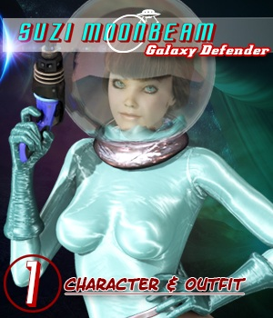 Suzi Moonbeam: Galaxy Defender, Part One 3D Figure Assets shadownet