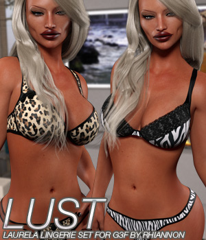 LUST - Laurela Lingerie Set for Genesis 3 3D Figure Essentials Anagord