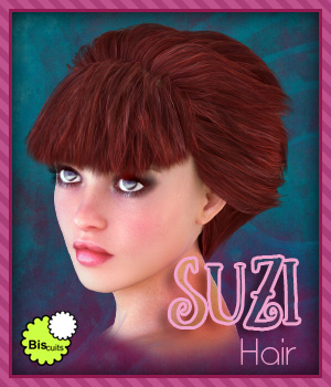 Biscuits Suzi Hair 3D Figure Assets Biscuits