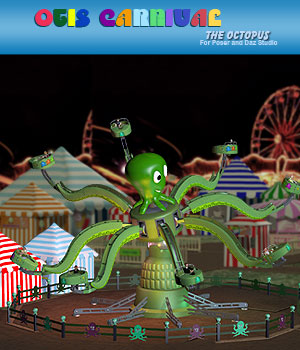 Otis Carnival Fun Octopus Ride 3D Models Simon-3D