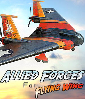 Allied Forces for Flying Wing 3D Models Cybertenko